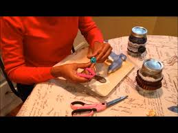 Decorating Mason Jars With Ribbon How to Decorate Mason Jars Tutorial with Ribbon Jute Flowers 60