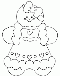 Small Picture Free Printable Gingerbread Man Coloring Page From Gingerbread
