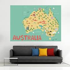 kid country map australia block giant
