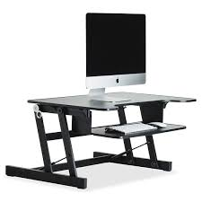 lorell sit to stand monitor riser review