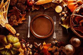 thanksgiving dinner plate setting