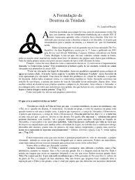 Resultado de imagem para A Formulação da Doutrina da Trindade -- Livro da autoria do pastor Lynnford Beachy.
