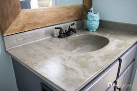 diy concrete sink. Simple Diy Learn How Our DIY Concrete Vanity Is Holding Up 18 Months After Completion   And Diy Concrete Sink