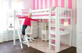 loft bed with desk white loft beds with desk for girls kids charleston storage loft bed