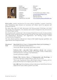 English Curriculum Vitae Riccardo Pietra English Cv