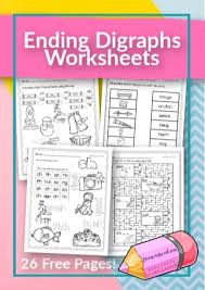 These specific word families have been chosen to help your kindergarten students sound out the short vowel sounds, as well as identify common pairings they are likely to see during their kindergarten year. Ending Digraph Worksheets Free Word Work