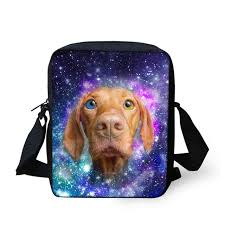 THIKIN <b>Fancy</b> Galaxy Star Dog Cat <b>сумка</b>-мессенджер с принтом ...