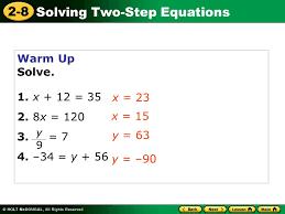warm up solve 1 x 12 35 2 8x