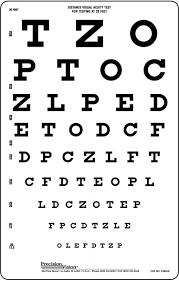 snellen translucent distance vision testing chart