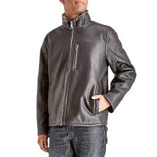 mens faux leather jacket with faux fur lining