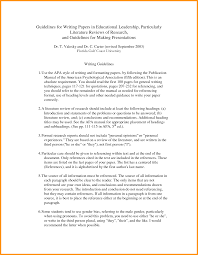010 Literature Review Sample Apa 3 Template Frightening Ideas Style