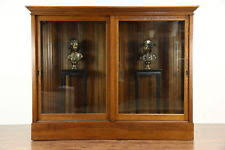 antique cabinet doors. oak 1900 antique drug store display cabinet pantry cupboard, sliding glass doors