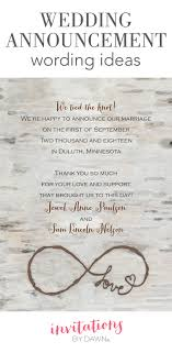 Wedding Announcement Photo Cards Wedding Announcement Wording Invitations By Dawn