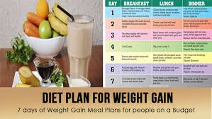Diet Plan For Weight Gain World Wide Lifestyles Fitness