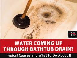 water coming up bathtub drain hays