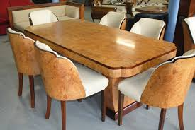 art deco dining table uk. enquire about art deco cloudback dining table and 6 chairs uk n