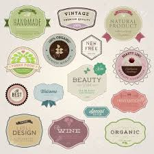 Label Design Vector Free Download Stock Vector Cosmetic Labels Stickers Label Image