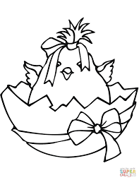 Easter Chick Coloring Page Free Printable Coloring Pages