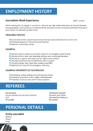 Internship Resume Template Sample Financial Video Journalist