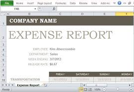 expenses report excel free expense report template for excel