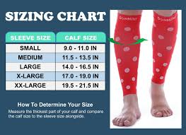Doc Miller Size Chart Details About Doc Miller Calf Compression Sleeve 1 Pair 20 30 Mmhg Varicose Polka Dots Red Wht