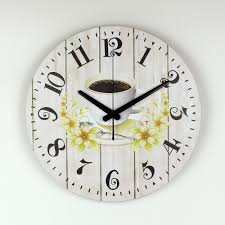 Coffee Decorations For Kitchen Compare Prices On Coffee Kitchen Clock Online Shopping Buy Low