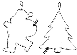 Christmas Tree Cut Out Template | Christmas ornaments from handmade flat  felt | Wool Festival