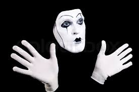 mime face and hands in white gloves and a theatrical make up isolated on black background stock photo colourbox