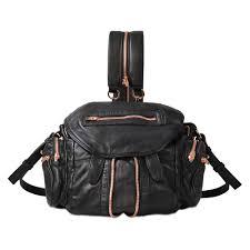 alexander mini marti bag in rose gold finish black woman alexander leather jackets luxury fashion brands