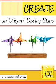 Origami Display Stand Delectable Create An Origami Display Stand Crafts Pinterest Origami And Craft