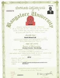 Phd Degree Sunil Phd Degree Certificate