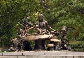 whoopi goldberg american comedian actress political activist writer and television host shares the history of the alice in wonderland statue one of