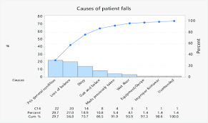 Pareto Chart Of Patient Falls Stratified By Different Causes