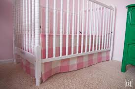 pink crib bed skirt and crib