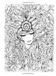 Small Picture Flower face woman Zen and Anti stress Coloring pages for