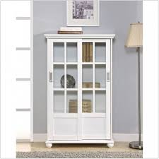 Living Room Cabinets With Glass Doors White Bookshelves With Cabinets Best Home Furniture Decoration