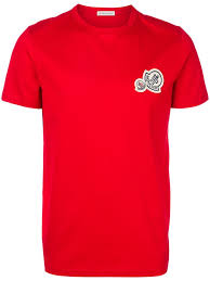 Moncler Clothing Sale Up to 50% off Men Moncler Logo Patch T-Shirt -