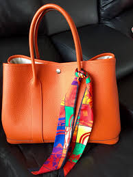 garden party hermes. Garden Party Hermes Bag With Mini Twilly