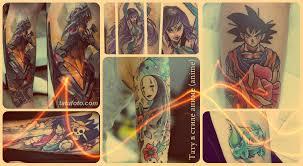 тату в стиле аниме Anime фото эскизы и значение рисунков