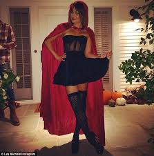 lea michele dressed up as little red riding