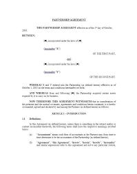 Partnership Agreement Template 01 Letter Of Intent