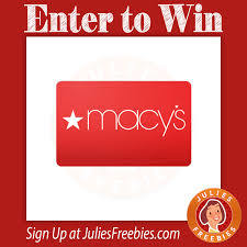 here is an offer where you can enter to win a macy s gift card
