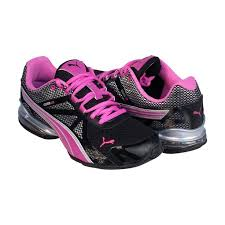puma shoes pink and white. puma womens voltaic 5 black pink synthetic athletic running shoes and white a