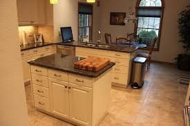 Kitchen island demonstrating storage convenience