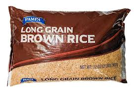 Amazon.com : Pampa Long Grain Rice 32oz Bag (Brown) : Grocery & Gourmet Food