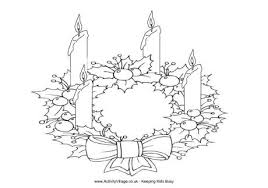 Small Picture Advent Wreath Coloring Page Christmas Coloring For Kids