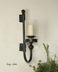 iron wall sconces for candles wall sconces candle hurricane with regard to for candles designs 8 metal pillar candle wall sconce