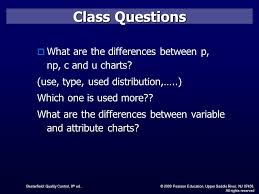 Difference Between C Chart And P Chart Control Charts For Attributes Ppt Video Online Download
