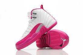 air jordan shoes for girls 2016. girls air jordan 12 pink white shoes for 2016