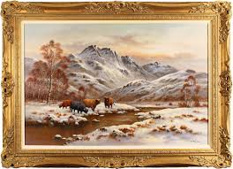 Wendy Reeves   Original oil painting on canvas, Highland Cattle, Art to buy  online (Ref:WDR218)